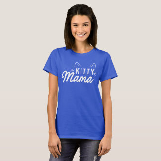 Kitty Mama with Cat Ears T-Shirt