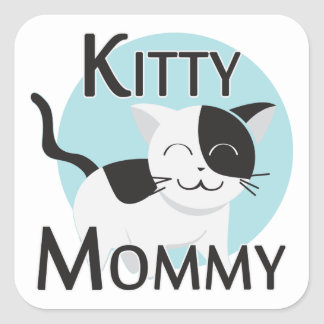 Kitty Mommy Cute Cat Square Sticker
