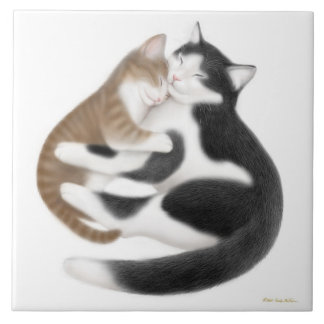 Kitty Motherly Love Tile