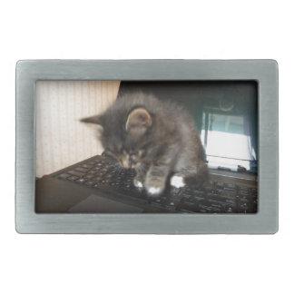 Kitty Mouse Rectangular Belt Buckle