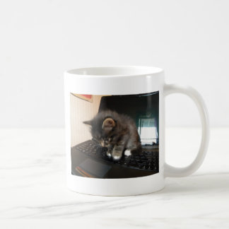 Kitty Mouse Classic White Coffee Mug