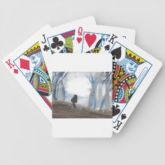 Kitty On A Misty Morning Bicycle Playing Cards