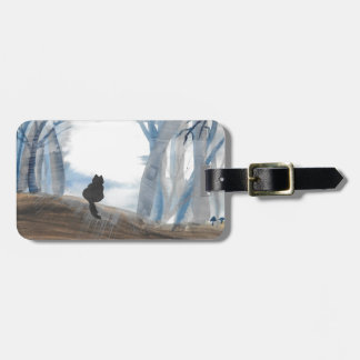 Kitty On A Misty Morning Luggage Tag