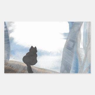Kitty On A Misty Morning Sticker