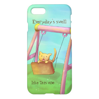 """Kitty on a Swing"" Phone Cover"