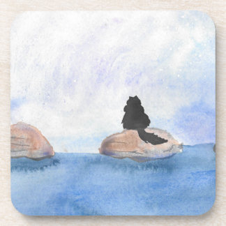 Kitty On Stepping Stones Coaster