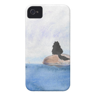 Kitty On Stepping Stones iPhone 4 Case-Mate Case