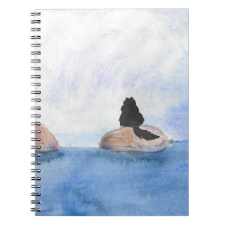 Kitty On Stepping Stones Notebook