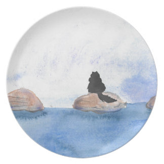 Kitty On Stepping Stones Plate