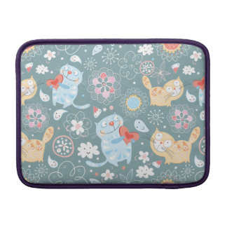 Kitty Pattern Three MacBook Sleeve