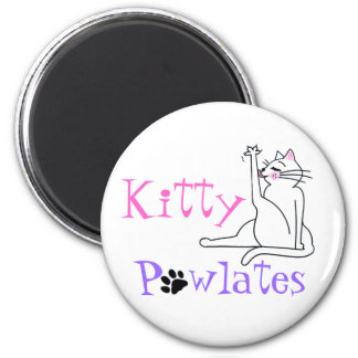 Kitty Pawlates 2 Inch Round Magnet