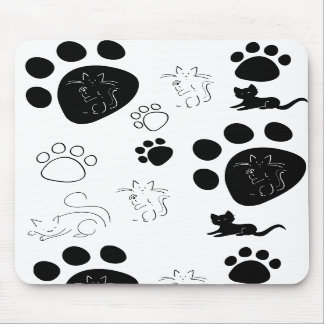 Kitty paws mousepad