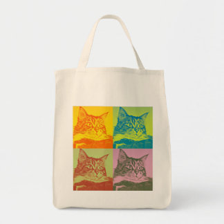 Kitty Pop Art Shopping Tote