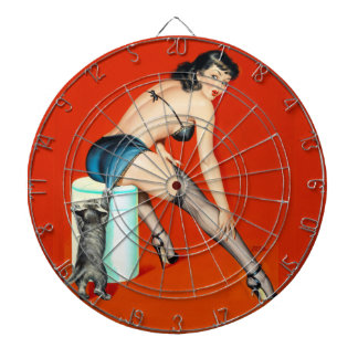 Kitty Pulp Pin Up Dartboard