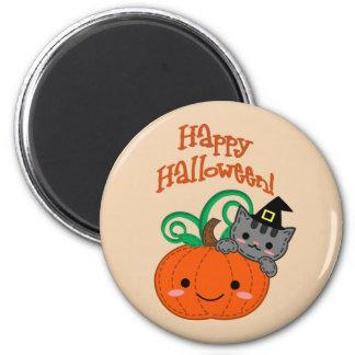 Kitty Pumpkin Magnet