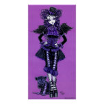 Kitty Purple Gothic Victorian Angel Poster