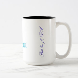 Kitty Queen Cuppa Joe! Two-Tone Coffee Mug