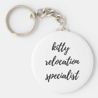 Kitty Relocation Specialist Keychain