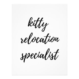 Kitty Relocation Specialist Letterhead