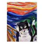 Kitty Scream Postcard