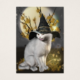 Kitty The Magical Witches Cat Business Card