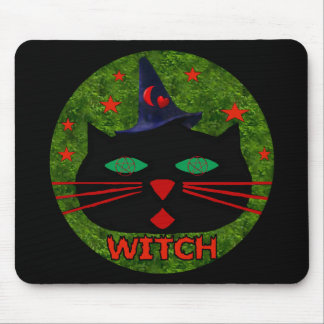 Kitty Witch Mouse Pad