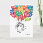 KITTY WTH HEART BALLOONS Valentines by Boynton Christmas Card