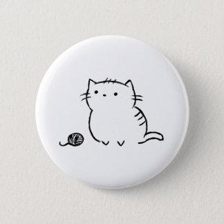 Kitty & Yarn 2 Inch Round Button