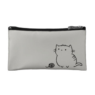 Kitty & Yarn Makeup Bag