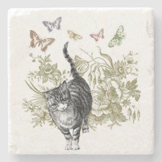 Kitty's Garden Stone Coaster