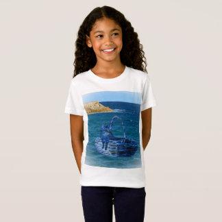 Kitty's Sea Adventure, Girls White T-shirt
