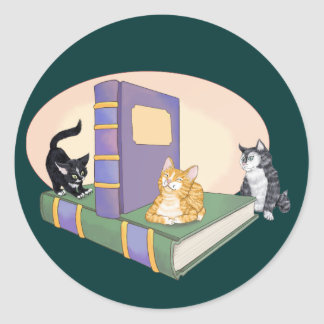 Kitty's Tale Classic Round Sticker