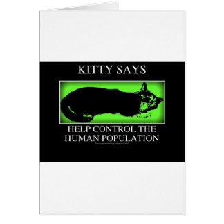 kittysaysgreen greeting card