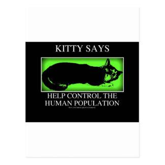 kittysaysgreen postcard