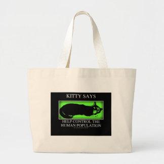 kittysaysgreen sac en toile jumbo