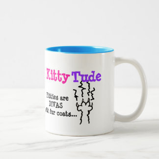 """KittyTude!"" Two-Tone Coffee Mug"