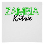 Kitwe, ZAMBIE Posters