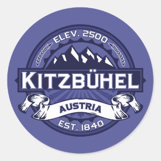 Kitzbühel Logo Midnight Classic Round Sticker