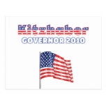 Kitzhaber Patriotic American Flag 2010 Elections Postcards