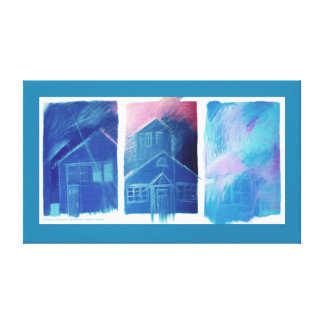 KIW Sparks: House & Home Stretched Canvas Print