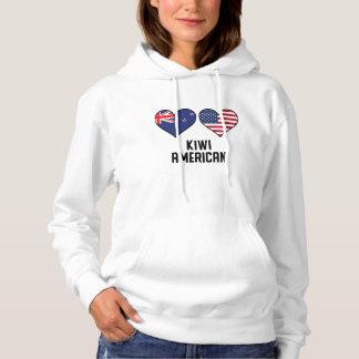 Kiwi American Heart Flags Hoodie