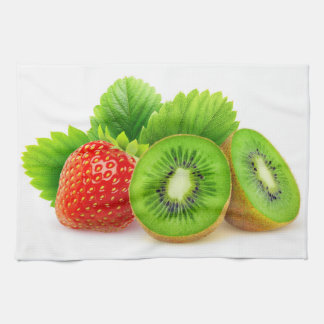 Kiwi and strawberry towel