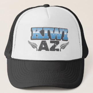 Kiwi az in blue and silver trucker hat