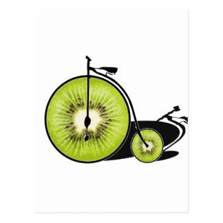 Kiwi bicycle postcard