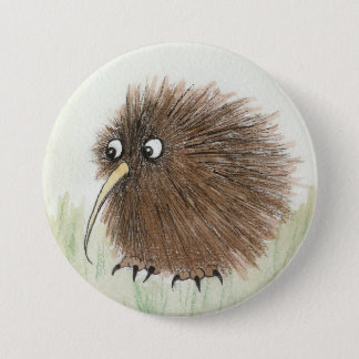 Kiwi Bird 3 Inch Round Button