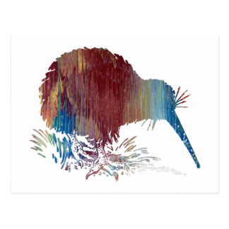 Kiwi Bird Art Postcard