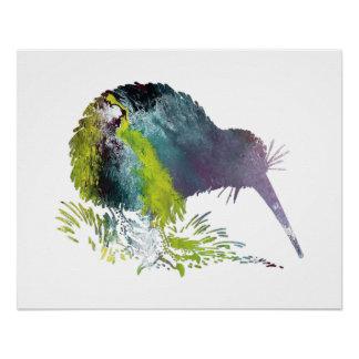 Kiwi Bird Art Poster