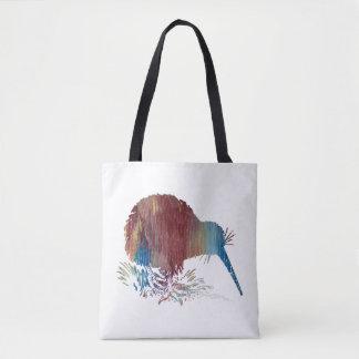 Kiwi Bird Art Tote Bag