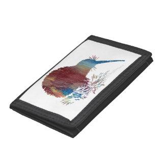 Kiwi Bird Art Tri-fold Wallet