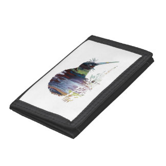Kiwi Bird Art Tri-fold Wallets